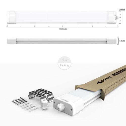 60//120//150 LED Feuchtraumleuchte Feuchtraumlampe Wannenleuchte Röhre Keller IP65