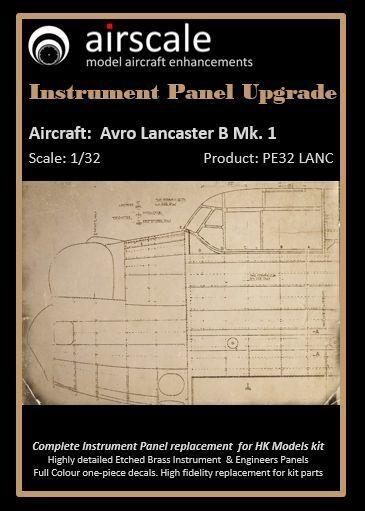 flygagagskala 1  32 Avro Lancaster B Mk.I. Instrumäntpanel Uppkvalitetrad ASPE32LANC