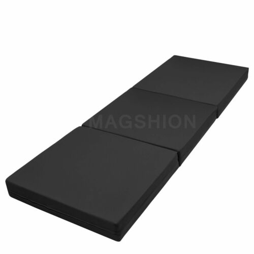 Floor Mattress Tatami Foam Mat Foam Bed Trifold Folding Mattresses Black