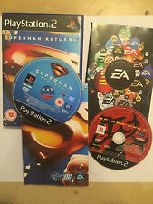 2x SONY PLAYSTATION 2 PS2 GAMES SPIDER-MAN 2 + SUPERMAN RETURNS BOTH PAL