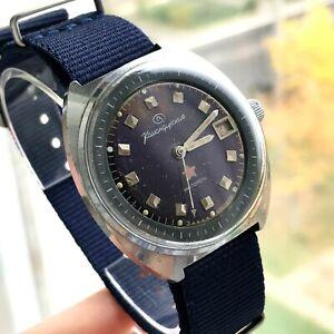 Militaer-Casual-Vostok-Komandirskie-Uhr-UdSSR-MO-um-Maenner-Retro-Datum-gewartet
