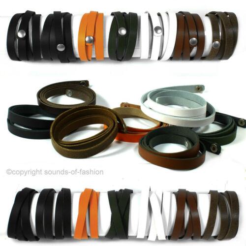 Echt Leder Armband Wickel Doppel Schmal Breit Lederarmband Made in Germany