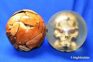 """Hand-Made Drift Wood Wooden Bowling Ball 8.5"""" Round Sphere Ball Orb Sculpture"""