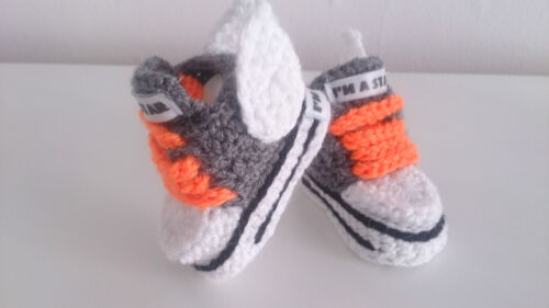 BABY CROCHET HANDMADE SHOES BOOTS BOOTIES KNITTING FIRST SHOES