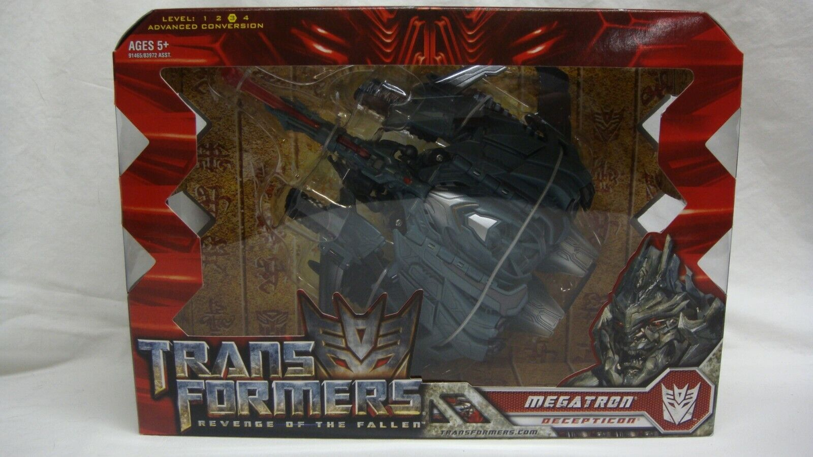 TRANSFORMERS redF REVENGE OF THE FALLEN MEGATRON VOYAGER CLASS NEW SEALED