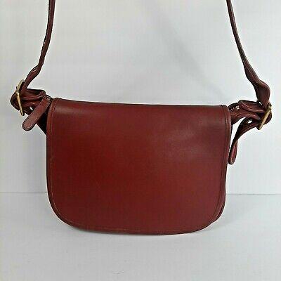 Vintage Coach Red Leather Patricia Legacy Shoulder Crossbody Saddle Flap Purse | eBay