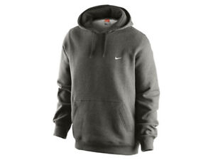 3b0af87aabaf Image is loading Nike-Charcoal-Classic-Fleece-Pull-over-Hoodie-Sweatshirt-