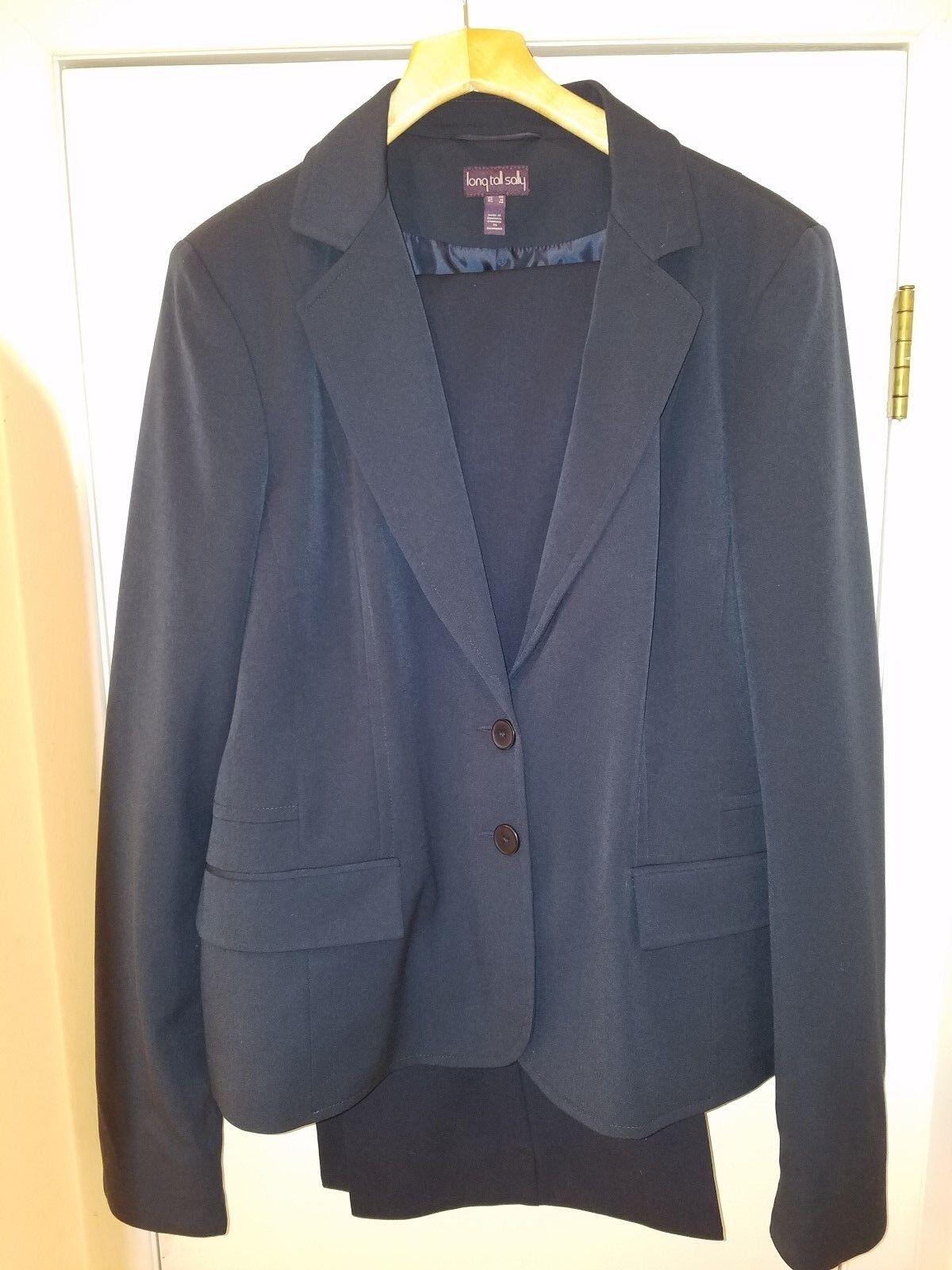 Long Tall Sally Dark Navy Suit US16 18 - 38inch inseam