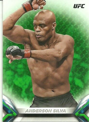 2018 TOPPS KNOCKOUT UFC GREEN #7 ANDERSON SILVA //199 FREE SHIPPING QTY
