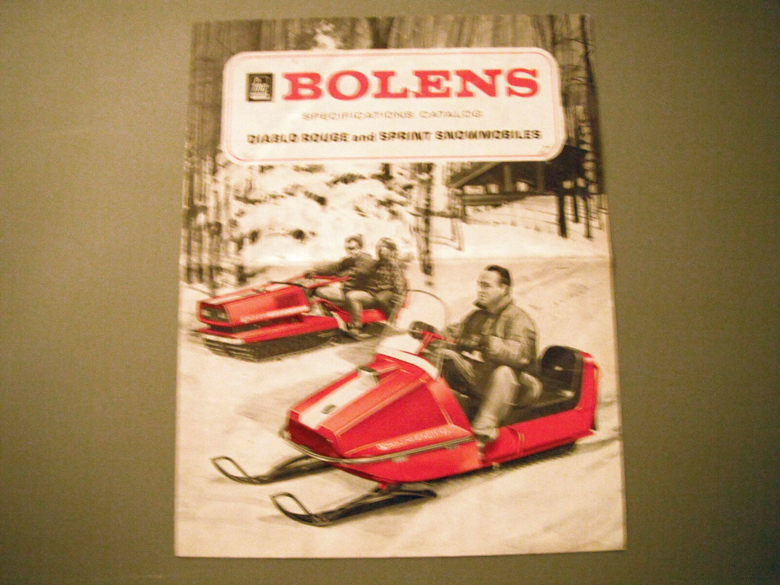 Vintage Bolens Diablo red & Sprint Snowmobiles Brochure