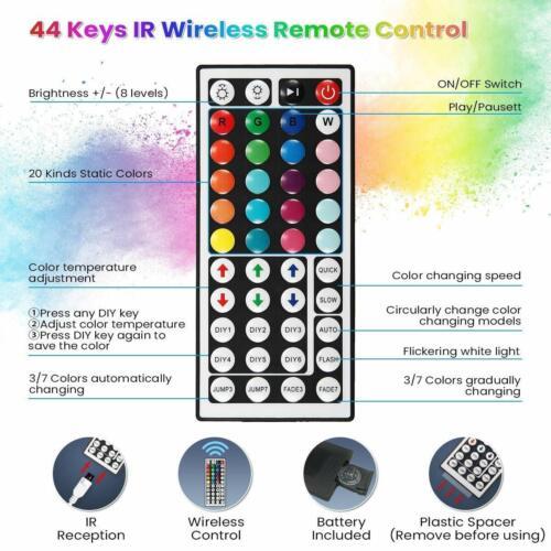 1//2//5PCS 44 24 Key IR Remote Controller For RGB 3528 5050 LED Light Strip 12V UK