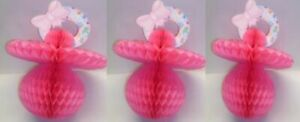 3-Piece-Baby-Shower-Decorating-Kit-Tissue-Pacifier-Theme-PINK-1080