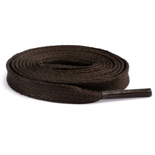 Flat Waxed Shoelaces Oxford Dress Canvas Sneaker Shoe Laces Unisex Strings NEW