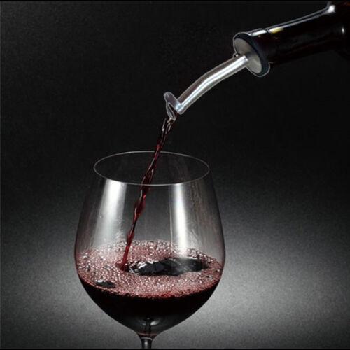 2x Edelstahl Schnapsausgießer Flaschenausgießer Ausgießer Portionierer Getränke