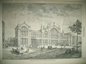 PARIS-GARE-DU-NORD-POLOGNE-EXPEDITION-MEXIQUE-SENEGAL-TIRAILLEURS-GRAVURES-1863