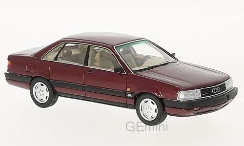 Neo 43039 - 200 audi quattro 20v dark red metallic - 1990 1 43
