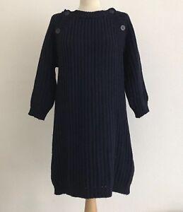 cashmere 10 Dutchess pesante con e in blu Uk lana bottoni Maglia dettaglio navy 74qwYRnZ
