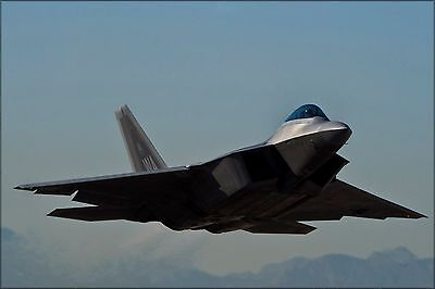 Poster, Many Sizes; U.S. Air Force F-22 Raptor, Departs For A Training Mission