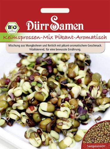 """EUR 3,45 // 100 g Dürr Bio Keimsprossen /"""" Pikant-aromatisch Mix/""""   Keimsaaten"""