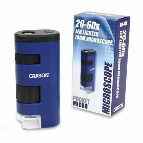 Carson Optical MM-450 MM450 20X 60X LED Lighted Zoom Microscope Magnifier
