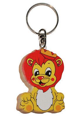 Anh Schlüsselanhänger sehr stabil aus lackiertem Holz Löwe // kleiner Prinz