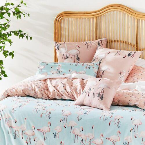 DOUBLE QUEEN or KING Quilt Cover Set Home Republic Francesca SINGLE Flamingos
