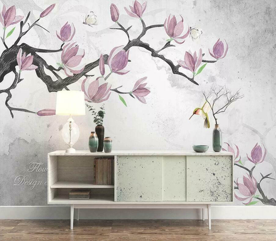 3D Idyllic Flower N1639 Wallpaper Wall Mural Removable Self-adhesive Sticker Amy