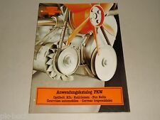Ersatzteilkatalog Teile Katalog Optibelt Antriebsriemen Keilriemen, ca. 1980er