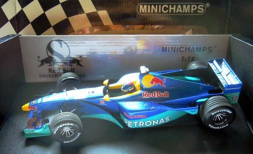 MINICHAMPS 180990012, rouge Bull propre Petronas c18, P. Diniz 1999, NOUVEAU & NEUF dans sa boîte