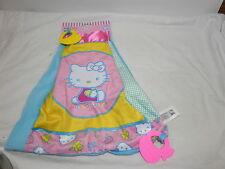 New Hello Kitty Baby Girl Security Lovey Cuddle Blanket Blankie Teether Blanket