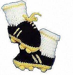Crochet Pattern Baby Very Cute Football Booties To Make eBay