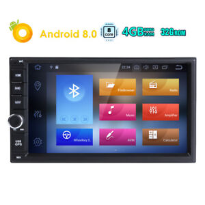 "7"" Double 2Din Android 8.0 8Core 4GB DSP Car Radio GPS Navigation Touch Screen B"