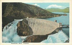 DB-Postcard-AZ-K186-Roosevelt-Dam-Arizona-White-Border-Boeres-ca1920s-Unposted