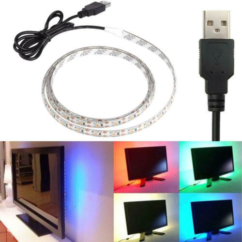 RGB DC 5V 3528 5050 SMD Flexible LED Strip Light Roll Ultra Bright 0.5//1//2//5m 9