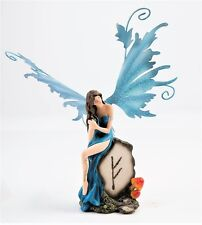Blue Fairy with Mythic Stone  Legends of Avalon Figurine with Metal Wings