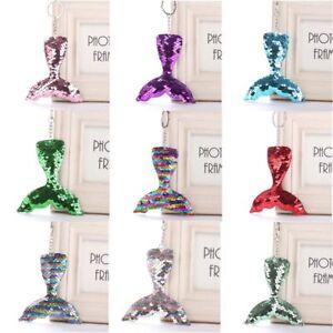 Fashion-Mermaid-Tail-Women-039-s-Sequin-Key-Chain-Handbag-Key-ring-Fashion-Jewelry