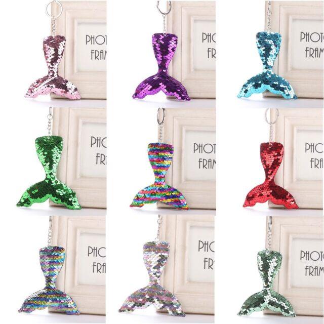 2018 Mermaid Tail Women's Sequin Key Chain Handbag Key-ring Fashion Jewelry Hot