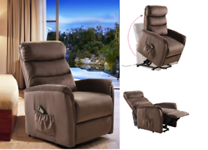 Power Lift Chair Recliner Armchair Seat Footrest Soft Sofa Chair ...