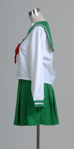 Anime Inuyasha Kagome Higurashi Cosplay Costume Japanese School Uniform Suit