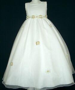 8f04787f5cec Ivory Flower Girl Dress Communion Confirmation Dresses for Girls ...