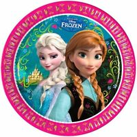 8 PAPER PLATES 23CM LICENSED CHARACTER DISNEY FROZEN KIDS Birthday Party PLATES