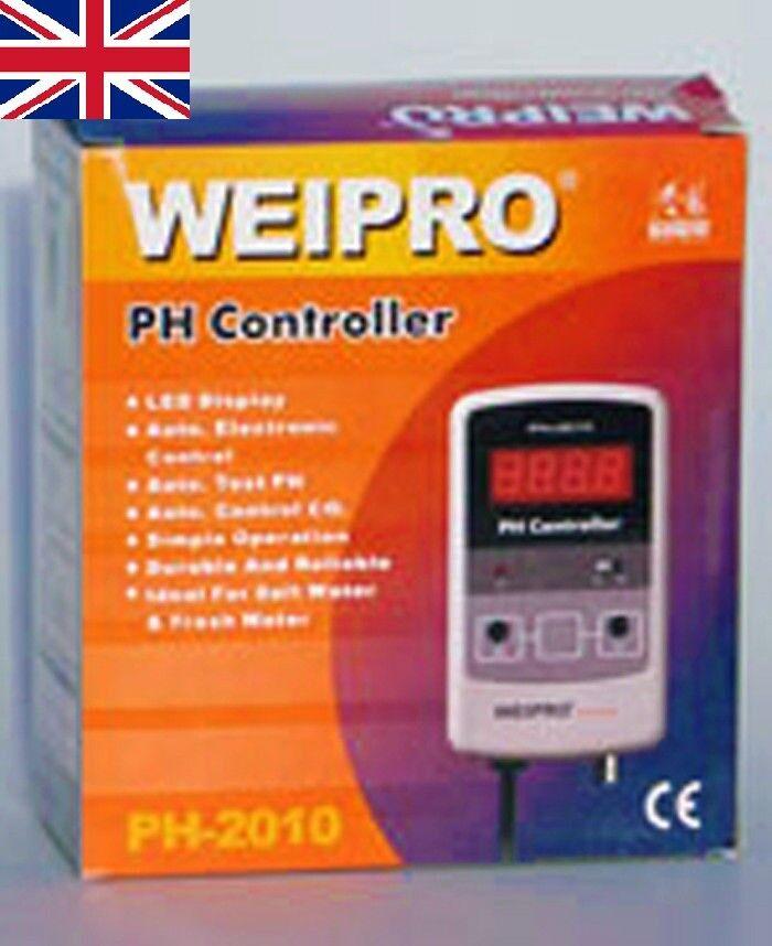 WEIPRO PH2010 PH2010A Controller valore pHmetro Con Sonda Acquario Marino Fres