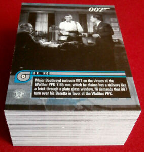 JAMES-BOND-MISSION-LOGS-COMPLETE-66-Card-Base-Set-RITTENHOUSE-2011