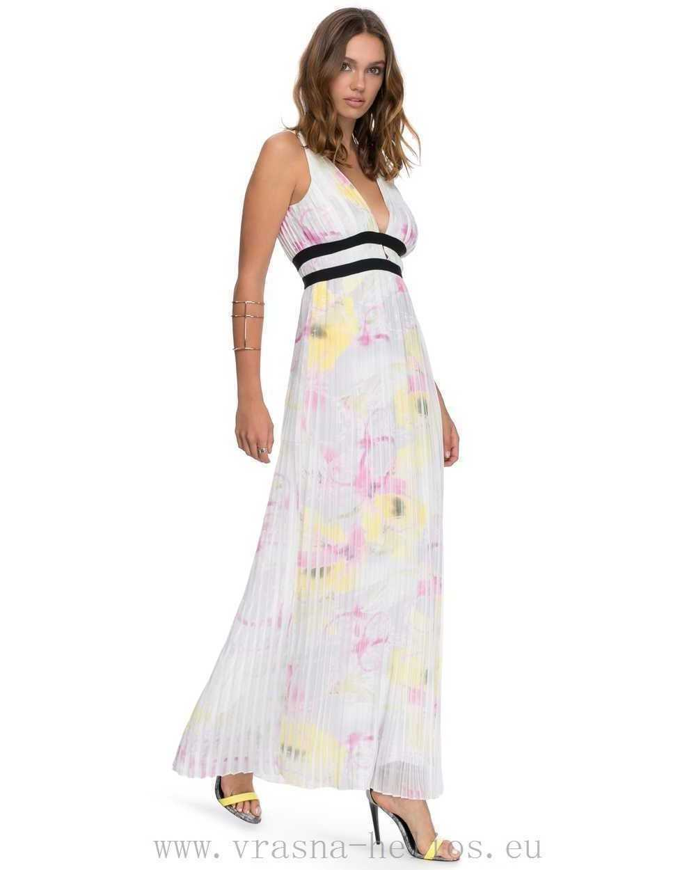 BNWT RIVER ISLAND WATERCOLOUR PRINT PLEATED MAXI DRESS SIZE 12 STUNNING RRP