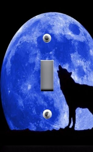Light Switch Plate /& Outlet Covers SOLAR SYSTEM BLUE MOON HOWLING WOLF