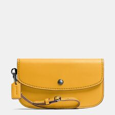 426e362973 Coach Glovetanned Leather Clutch Wristlet in Goldenrod - Style No. 58818