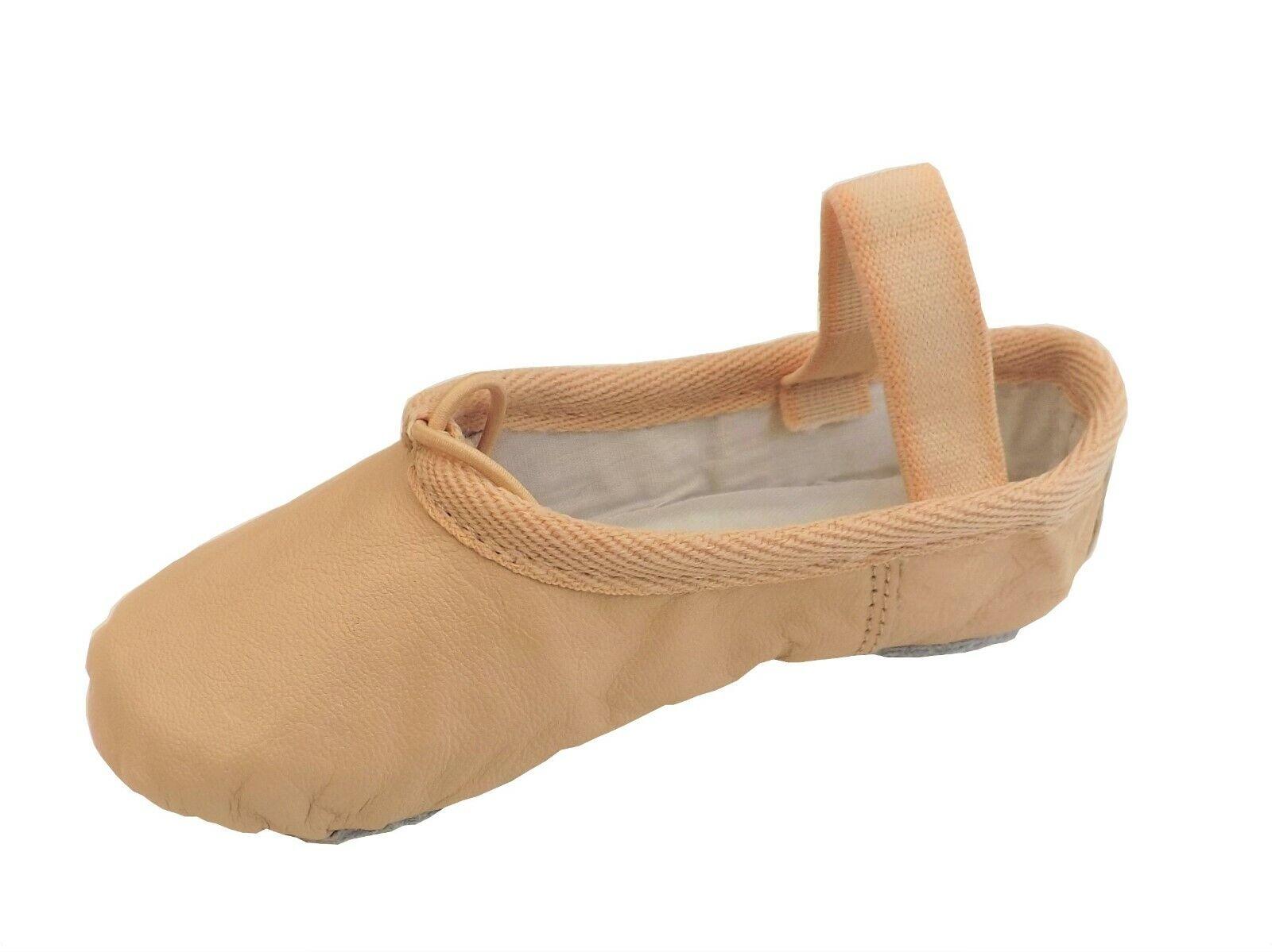 Ballet Shoes Split Sole Leather Pink