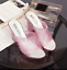 Women-Open-Toe-Hollow-Wedge-Heel-Sandals-Breathable-Jelly-Crystal-Slip-on-Shoes thumbnail 11