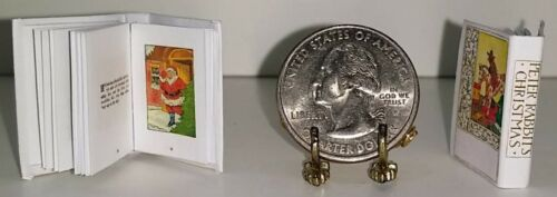 1:12 SCALE MINIATURE BOOK PETER RABBIT'S CHRISTMAS DOLLHOUSE SCALE