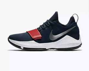 bb7f58d0b507 Men Nike PG1 Paul George Basketball Shoes Size 14 Navy Blue Red ...